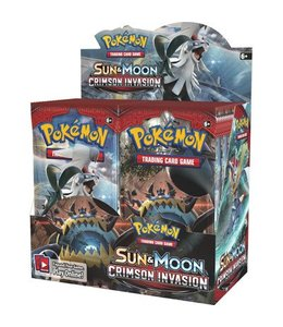 Pokemon Sun & Moon Crimson Invasion Booster
