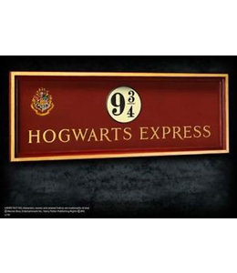 Noble Collection Hogwarts Exclusive Platform 9 3/4 Wall Paque