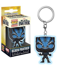 Funko Black Panther Movie Pocket POP! Vinyl Keychain Black Panther Glow 4 cm