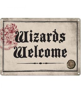 HEO Harry Potter Tin Sign Wizards Welcome 21 x 15 cm