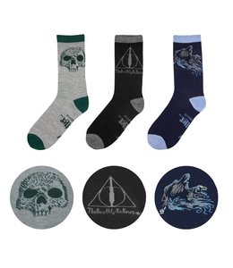 HEO Harry Potter Socks 3-Pack Deathly Hallows