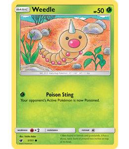 Pokemon Weedle - S&M CrIn 1/111