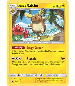 Pokemon Alolan Raichu - S&M CrIn 31/111 - Reverse