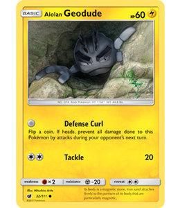 Pokemon Alolan Geodude - S&M CrIn 32/111 - Reverse
