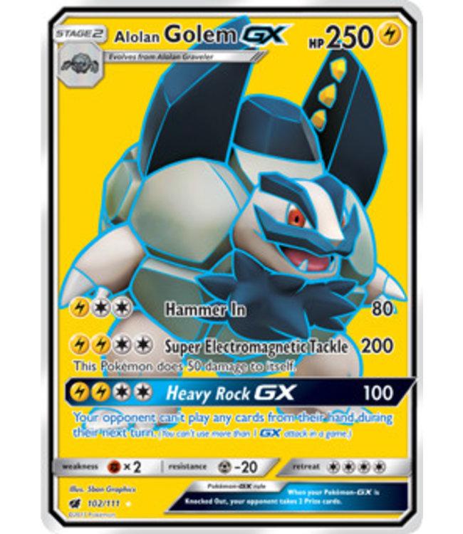 Pokemon Alolan Golem GX - S&M CrIn 102/111