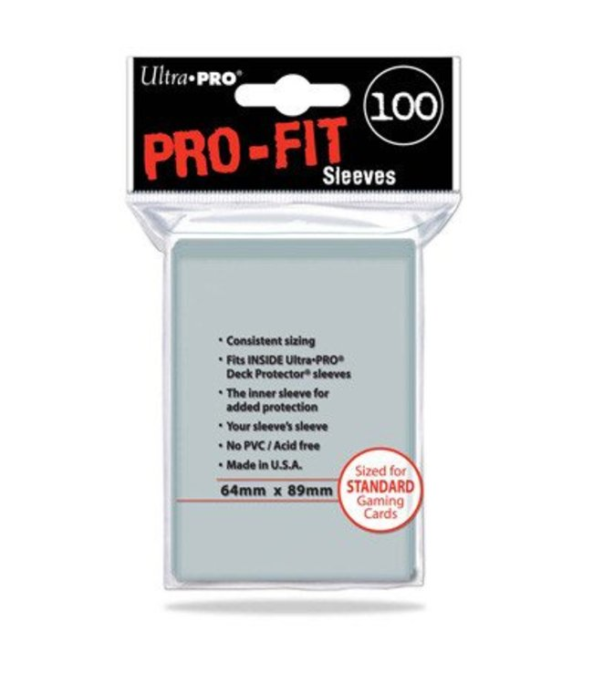 Ultra Pro SLEEVES Pro-Fit Clear Standard