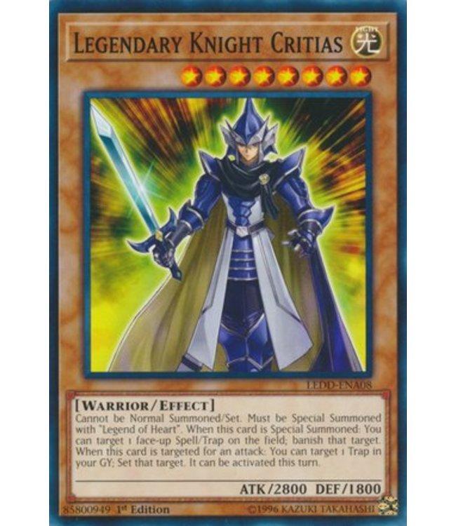 Yu-Gi-Oh! Legendary Knight Critias - 1st. Edition - DRL3-EN056
