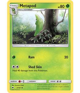 Pokemon Metapod- S&M BuSh 2/147 - Reverse