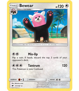 Pokemon Bewear - S&M BuSh 111/147 - Reverse