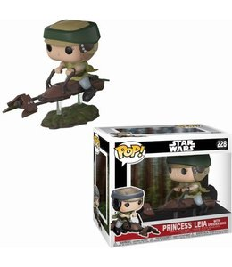 Funko Star Wars Pop! Vinyl Deluxe Princes Leia with Speeder Bike