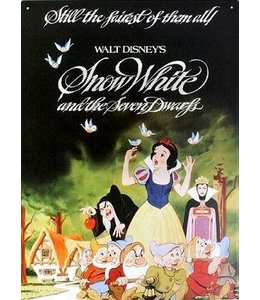Half Moon Bay Snow White Disney Classic Film Poster Large Steel Sign