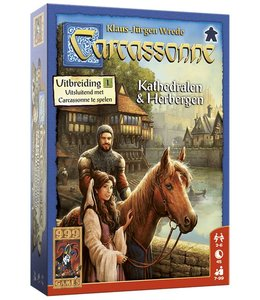 999 Games Carcassonne: Kathedralen & Herbergen - Bordspel