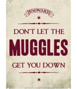 Half Moon Bay Harry Potter Tin Sign Muggles 21 x 15 cm