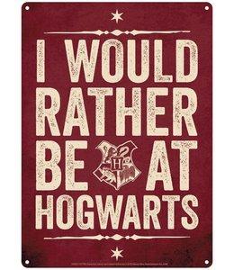 Half Moon Bay Harry Potter Tin Sign Hogwarts Slogan 21 x 15 cm