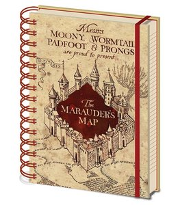 Half Moon Bay Harry Potter Notebook A5 Marauders Map