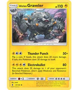 Pokemon Alolan Graveler - S&M GuRi 41/145 - Reverse