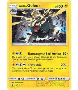 Pokemon Alolan Golem - S&M GuRi 42/145 - Reverse