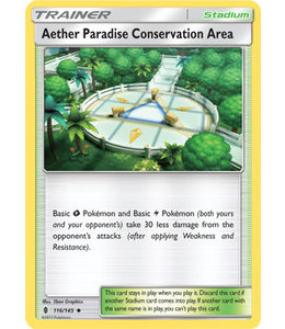 Pokemon Aether Paradise Conservation Area - S&M GuRi 116/145 - Reverse