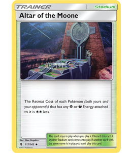 Pokemon Altar of the Moone - S&M GuRi 117/145 - Reverse