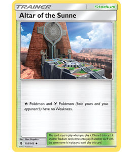 Pokemon Altar of the Sunne - S&M GuRi 118/145 - Reverse
