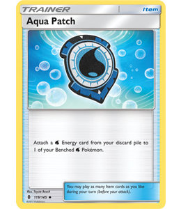 Pokemon Aqua Patch - S&M GuRi 119/145 - Reverse