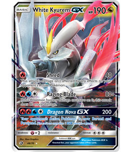 Pokemon White Kyurem GX - S&M DraMaj 48/70