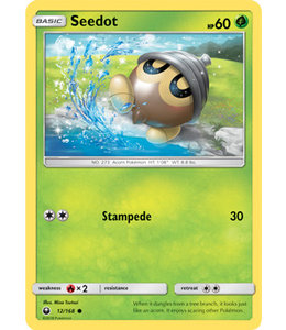 Pokemon Seedot - S&M CeSt 12/168 - Reverse