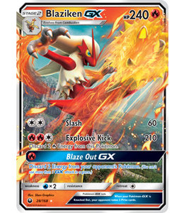 Pokemon Blaziken GX - S&M CeSt 28/168