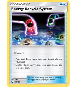 Pokemon Energy Recycle System - S&M CeSt 128/168 - Reverse