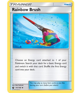 Pokemon Rainbow Brush - S&M CeSt 141/168 - Reverse