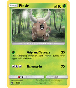 Pokemon Pinsir - S&M LoThu - 4/214 - Reverse