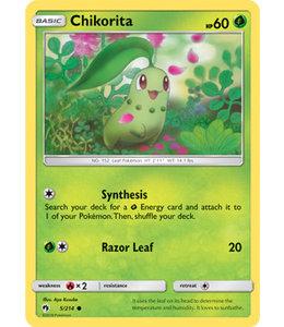 Pokemon Chikorita - S&M LoThu - 5/214 - Reverse