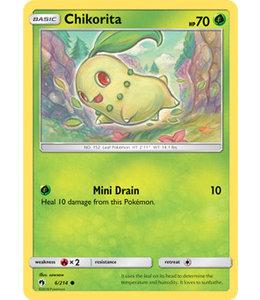 Pokemon Chikorita - S&M LoThu - 6/214 - Reverse