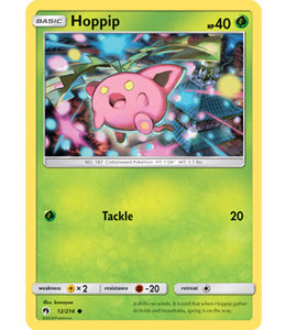 Pokemon Hoppip - S&M LoThu - 12/214 - Reverse