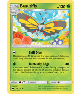 Pokemon Beautifly - S&M LoThu - 26/214 - Reverse
