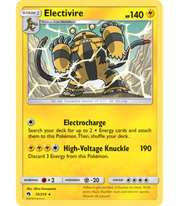 Pokemon Electivire - S&M LoThu - 72/214 - Reverse