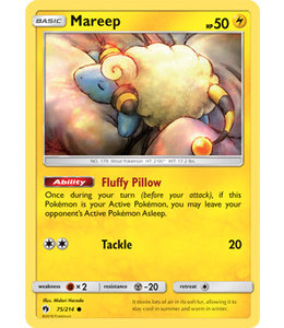Pokemon Mareep - S&M LoThu - 75/214 - Reverse