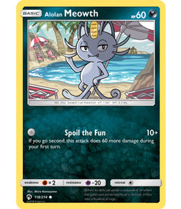 Pokemon Alolan Meowth - S&M LoThu - 118/214
