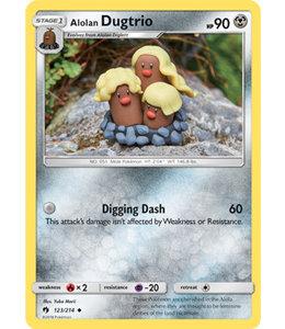 Pokemon Alolan Dugtrio - S&M LoThu - 123/214 - Reverse