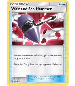 Pokemon Wait and See Hammer - S&M LoThu - 192/214 - Reverse