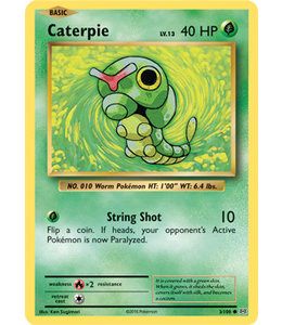 Pokemon Caterpie - Evol. - 3/108 - Reverse