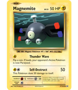 Pokemon Magnemite - Evol. - 37/108 - Reverse