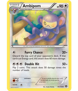 Pokemon Ambipom - XY StSi - 91/114 - Reverse