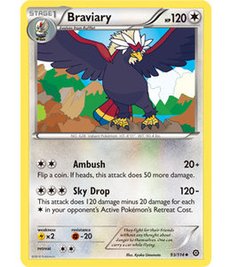 Pokemon Braviary - XY StSi - 93/114 - Reverse