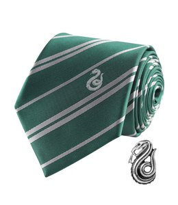 Cinereplicas Harry Potter Tie & Metal Pin Deluxe Box Slytherin