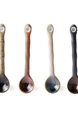 Set of 4 ceramic spoons