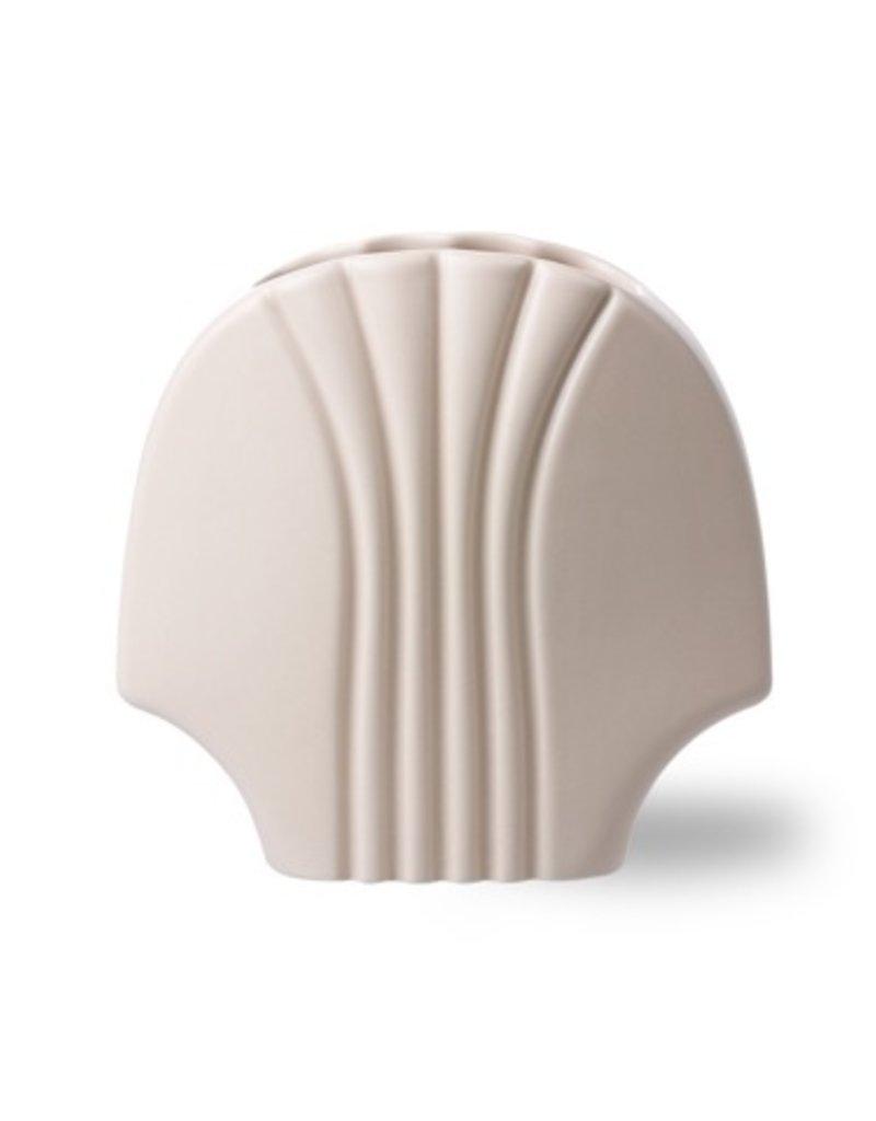 Witte vaas schelpvorm