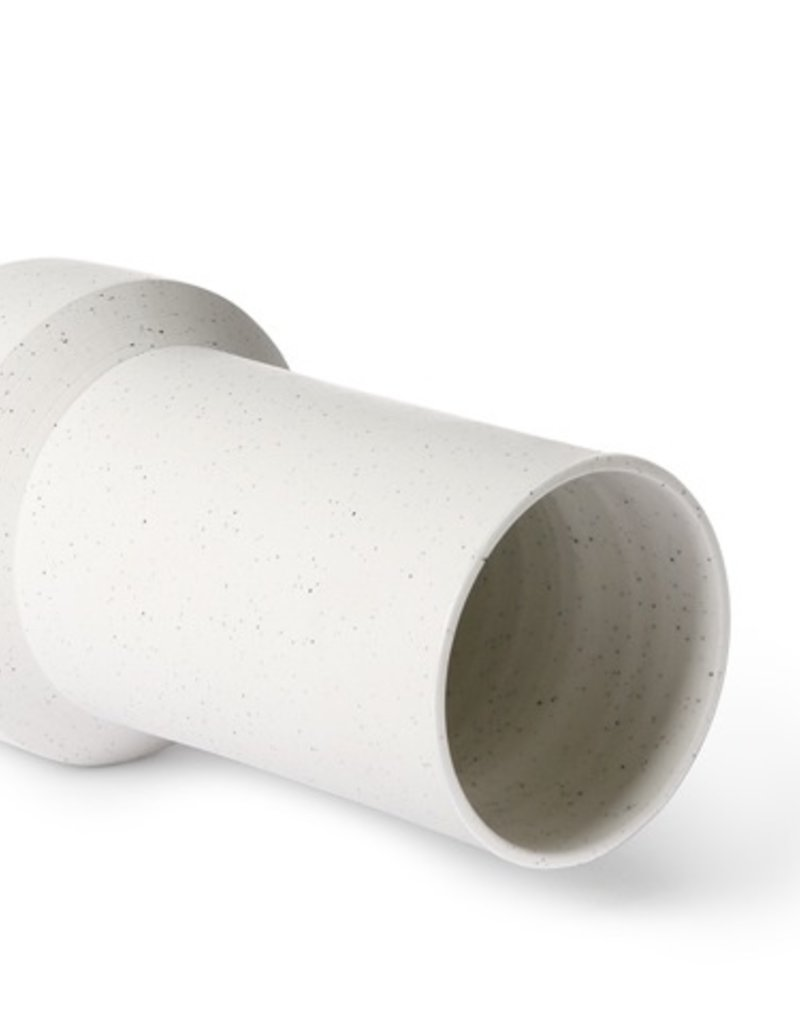 Witte vaas met spikkels
