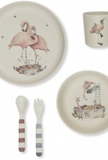 Kids dinner set flamingo