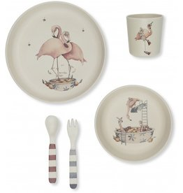 Kids dinner set flamingo